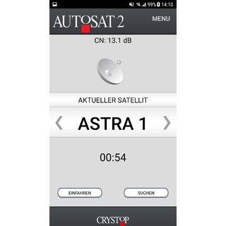 Mobilná aplikácia pre satelitný systém AutoSat2
