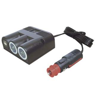 zásuvka PRO CAR 2x autozapalovač 21mm a 1x USB standard