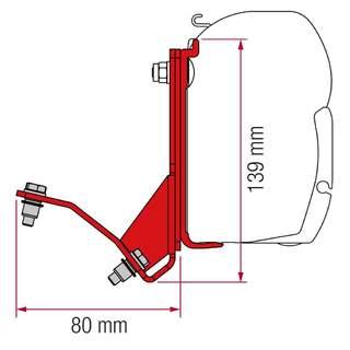 Adaptér markízy Fiat Ducato Hymercar, H2 (výklopná strecha)