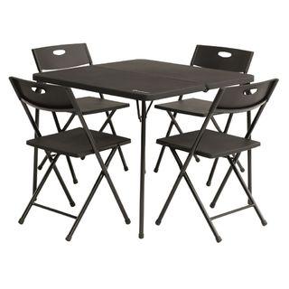 Sada kempingového nábytku, stôl a 4 stoličky