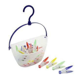 Košík so štipcami na bielizeň
