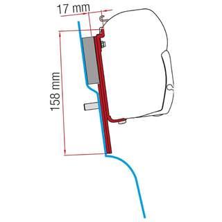 Adaptér markízy Ford Custom Nugget pre vysokú strechu