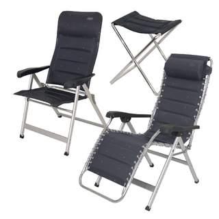 Kempingová stolička vysoká Campingmöbelserie Deluxe