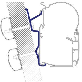 Adaptér pre Fiat Ducato H3 od roku výroby 07/2006 na nástenné markízy Dometic série 1