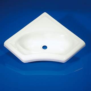 Plastové rohové umývadlo