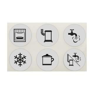 Sada štítkov so symbolmi