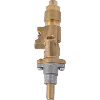 Dometic priamy plynový kohútik, pre sporáky SMEV, zlatý, s potlačou  CAL 20200 , malý, kryt horáka 4,5 cm
