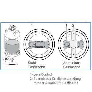 Upínacia doska pre hliníkové plynové fľaše